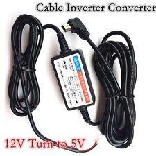 Mini 12-36V To 5V Hard Wire Cable 3 m Converter For GPS Tracker DVR Dash Camera