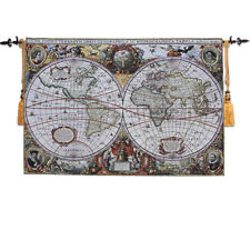 "Hot new SMALL Antique Map Medieval Fine Art Tapestry Wall Hanging, 47""x33"", US"