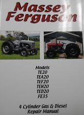 Massey Ferguson Tractor Manual / Book 4 Cylinder Gas/Petrol Diesel