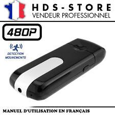 CLÉ USB CAMERA ESPION 480P USBCAM1 JUSQU'À 32 GO MAX DÉTECTION VIDÉO AUDIO PHOTO