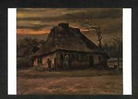 LUCKYPIGEON Vincent Van Gogh Cottage at Twilight Netherlands Postcard (C1795)