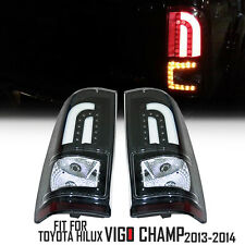 Black Led Tail Lamp Rear Light Fit For 2011-2015 Toyota Hilux Vigo Champ MK7