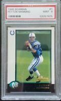 1998 Bowman #1 Peyton Manning PSA 9 MINT Colts Broncos RC HOF! INVEST