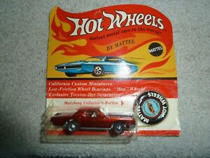 Vintage Hot Wheels Redline Continental Mark III with Blister Pack and Button