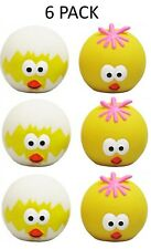 *NEW* 6 PACK GOODBOY SQUEAKY LATEX EASTER EGG CHICK BALLS DOG PUPPY TOYS 14900