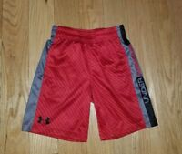 Boys UNDER ARMOUR Red Athletic SHORTS Sz 6 Youth Kids