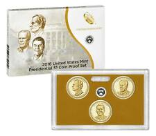 2016 S Clad Proof Set PRESIDENTIAL President Dollar 3 Coins w/ coa