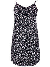 Evans Blue Floral Secret Support Cotton Rich Strappy Nightdress Nighty 18-32 NEW