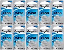 10 Energizer Lithium CR2450 2450 ECR2450 3V Coin Cell Batteries