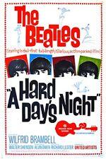 A HARD DAY'S NIGHT vintage movie poster THE BEATLES music JOHN LENNON 24X36