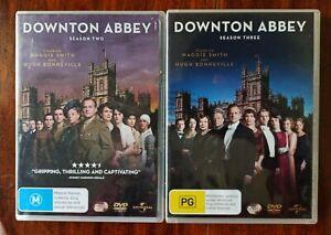 Downtown Abbey Season 2 & 3-DVD-Region 4-5/6 Disk Sets