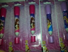 New lot of 5 packs packages 2 in 1 pen flashlight with pen girls disney princess
