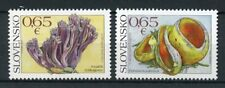 Slovakia 2017 MNH Mushrooms Nature Protection Conservation 2v Set Fungi Stamps