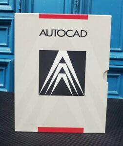 SUPER VINTAGE AutoCAD 1987 R9 DOS Software Floppy Discs Complete Open Box RARE