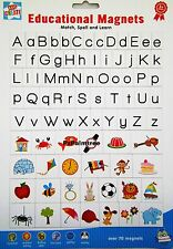 Kids Learning Educational MAGNETIC Letters & Pictures Fridge Magnets Alphabet