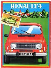 Renault 4 Estate 1982-83 Irish Market Foldout Sales Brochure TL GTL