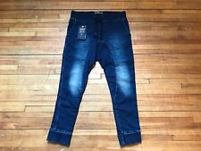 ZARA MAN KNIT WOVEN DENIM COUTURE LOW DROP CROTCH JOGGING SLIM SWEATPANTS XL 34