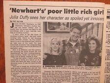 Aug. 24, 1986 N Y Daily News TV Week Magazine(JULIA  DUFFY/NEWHART/PETER SCOLARI