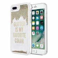 Kate Spade Glitter Designer Gold Glitter Case Cover For iPhone 8 Plus 7 Plus