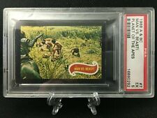 A&BC 1968 VINTAGE PLANET OF THE APES PSA GRADED 5 EXCELLENT CARD 7 MAN V. BEAST