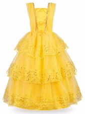JerrisApparel Princess Belle Deluxe Ball Gown Costume for Little Girl 7-8
