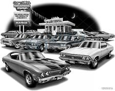"CHEVELLE 1968 MUSCLE CAR AUTO ART PRINT #1220 ""FREE USA SHIPPING"""