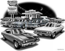 "CHEVELLE 1968 MUSCLE CAR AUTO ART PRINT #1220 ""FREE USA SHIPPING"""