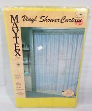 Vintage 1987 Maytex Mills Vinyl Shower Curtain Yellow Flower Illusion 70x72 NEW