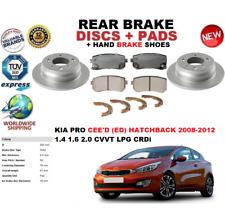 Pour Kia Pro Ceed Cee'D Hatchback 08-2012 Frein Arrière Disques Set + Patins+