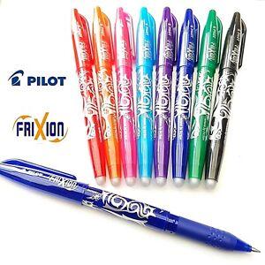 Pilot Frixion Pen Erasable 0.7mm Rollerball Pens Write Heat Erase Refills Ink
