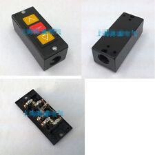 1PCS Push Button Switch Rolling Door Up Down Stop 3 Button Black Plastic Shell