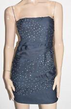 VALLEYGIRL Designer Navy Party Strapless Bodycon Dress Size L BNWT #SR85