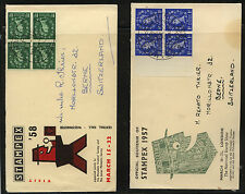 Great Britain 2 Stampex cachet covers Ms0721