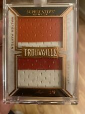 2020 Leaf Superlative Dual Patch Relic Jerry Rice Walter Payton Trouvaille 1/6