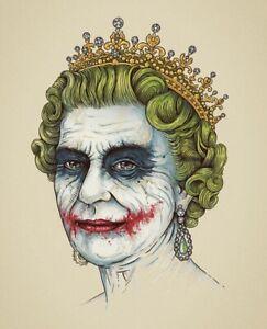 Joker Queen Canvas Print Wall Art Picture Size 16x20 Inch 18mm