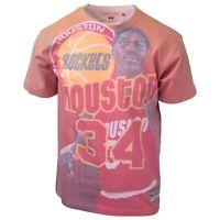 Mitchell & Ness Men's Hakeem Olajuwon #34 City Pride S/S T-Shirt