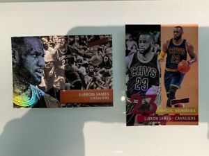 LOT 2 cards 2016-17 Panini Aficionado #58 and Magic Numbers LeBron James