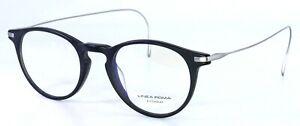 LINEA ROMA Ti01 C1 Matte Black Round Titanium Eyeglasses 49-22-150 ITALY PB1