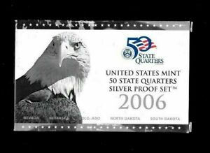 2006-S UNITED STATES 5 PIECE SILVER QUARTERS  PROOF SET. NV, NE, CO, ND AND SD.