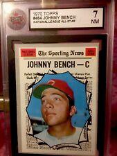 1970 TOPPS #464 JOHNNY BENCH KSA 7 HOF   Cincinnati Reds