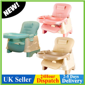 Adjustable Foldable Baby Chair Infant Feeding Seat Toddler Table Chair Portable