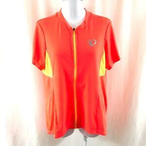 Pearl Izumi Womens Select Pursuit Jersey Full Zip Short Sleeve Orange Size XXL