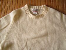 Alan Paine shetland crewneck sweater, ivory size 40