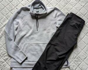 Champion Women's LARGE Athletic Pants Pullover Jacket Black Great Set Bundle