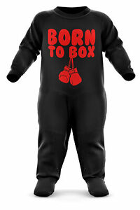 Born To Box Babygrow Boxing Baby Romper Suit Babies Boxer Christmas Gift Red Kid