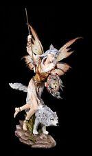 Guerrero Figura Elfos - Hada MYA ANA CON LOBO EN LA CAZA - 65cm de tamaño