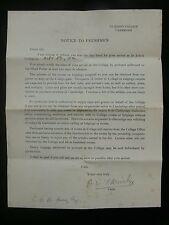 Bernard Armitage - Sexual Psychologist 1922 St. John's College Cambridge Letter