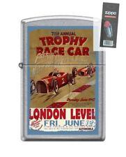 Zippo 207 TROPHY RACE CAR london level open wheel poster Lighter + FLINT PACK