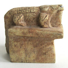 "Antique 2"" Long Carved Stone Egyptian Crocodile Artifact"