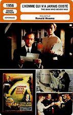 Movie Card. Fiche Cinéma. L'homme qui n'a jamais existé (G-B) Ronald Neame 1956